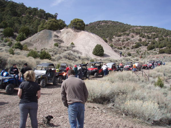 Members of the Utah ATV Association ride to the Frisco Kilns in Milford County.